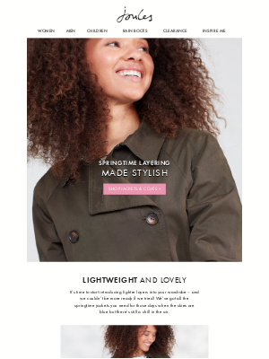 Joules (US) - Lighter layers for brighter days