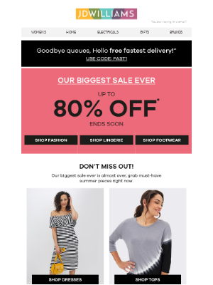 Don't miss out! Get up to 80% off now 👗