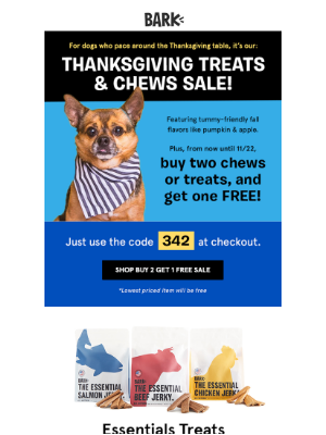 Thanksgiving treats! Get your Thanksgiving treats here!