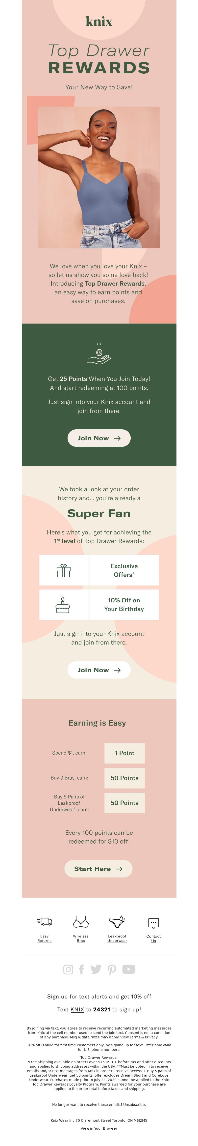 Knix - Introducing Top Drawer Rewards!