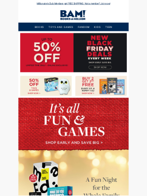 Books-A-Million - Save up to 50% on Trending Toys & Games!