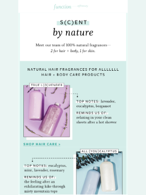 Function of Beauty - Natural fragrances you say? We've got 3!!!