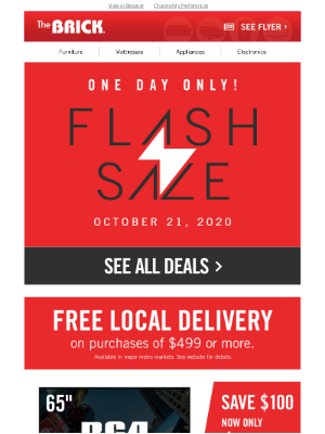 The Brick (CA) - Flash Sale! Grab this 65