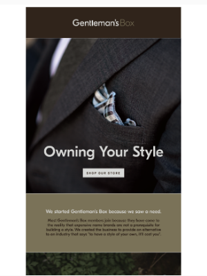 Gentleman's Box - Owning Your Style