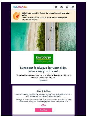 Travel with Europcar this summer and save up to 30%
