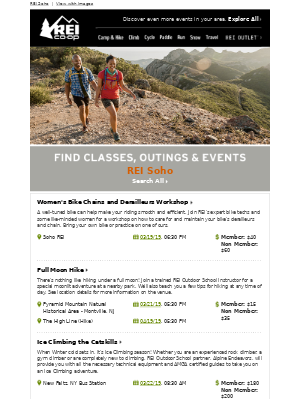 REI Classes and Events - See What's Happening!