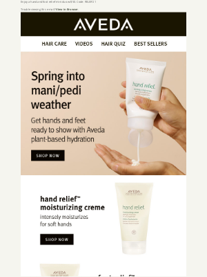 Aveda - Get hands and feet ready for spring