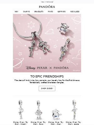 Reach for the stars with new Disney•Pixar Toy Story inspired charms