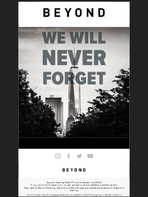 Beyond Clothing - We Will Never Forget 🇺🇸