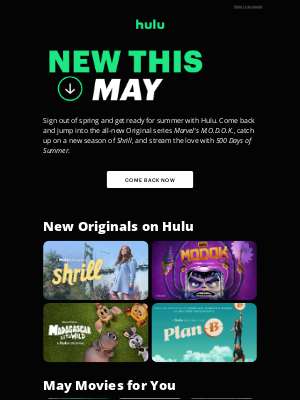 Hulu - Summer Is Heating Up. See What's New ☀️