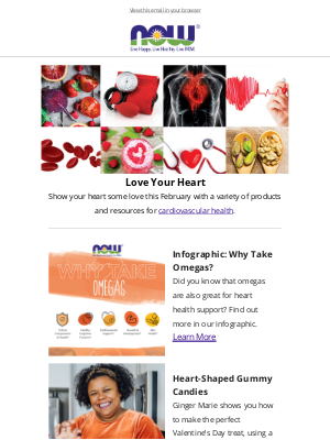 NOW Foods - February is Heart Health Month, plus a sweepstakes!