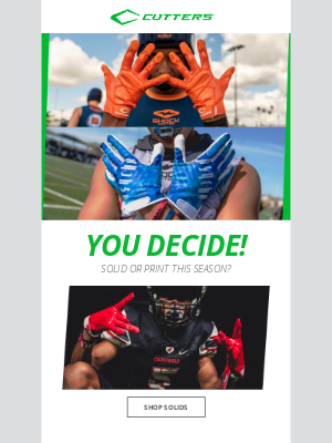 Cutters Sports - 👉 YOU Decide ✔️ Solid or Print?
