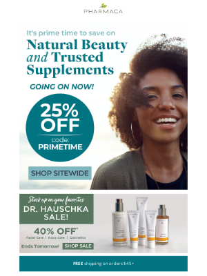 Pharmaca - 25% off sitewide? Perfect timing!