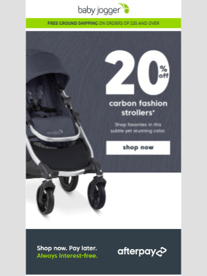 Baby Jogger - take 20% off and stroll in carbon fashion