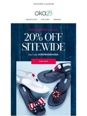 Independence Day Sale: 20% Off
