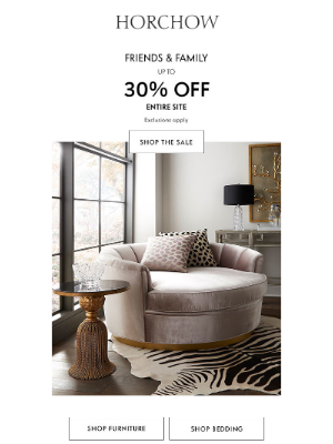 Horchow Mail Order - LAST DAY to save up to 30% off sitewide