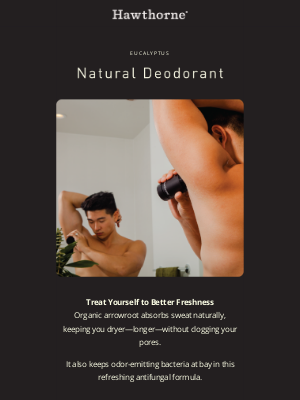 Hawthorne - Upgrade your deodorant with this eucalyptus detox