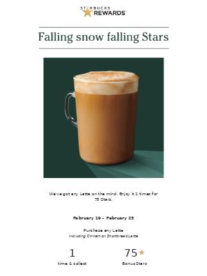 Bring home any Latte for 75 Bonus Stars