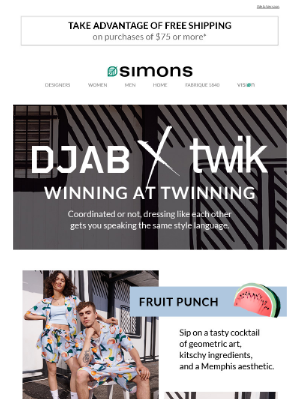 Simons Canada - Twinning = winning 👫