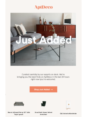 AptDeco - Just added—new arrivals that you'll love