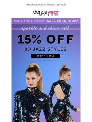 Dancewear Solutions - Final Day To Sparkle, Shine & Save