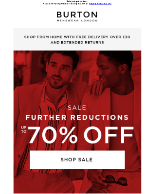 Further reductions: up to 70% off