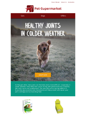 Pet-Supermarket (UK) - Boost your pet's joint health - Up to 15% off