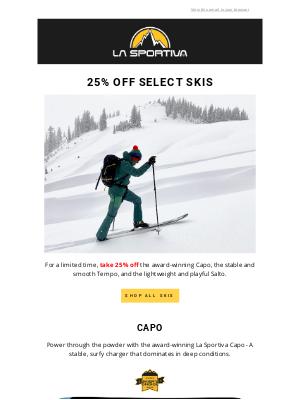 La Sportiva - 25% off Select Skis🎿