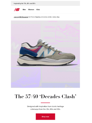 New Balance - Latest 57/40 arrives with new Athletics Collection