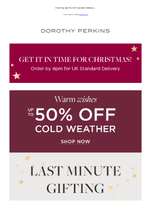 Dorothy Perkins (UK) - Last minute gifting sorted ✔️