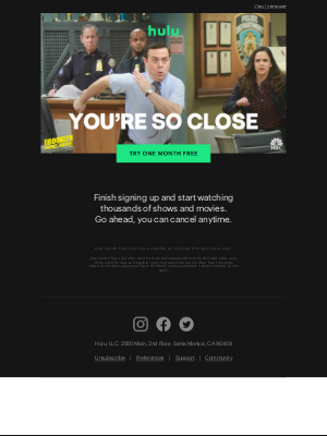 You're So Close to Free TV