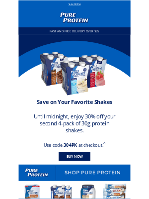 Pure Protein - 30% off Ends Tonight!
