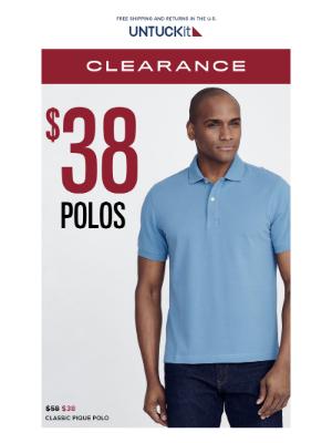 The Forecast Calls for $38 Polos