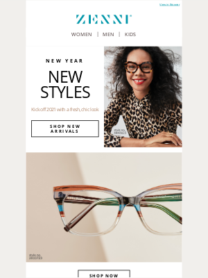 Zenni Optical - 👉 An email full of *newness* 👉