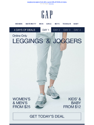 Old Navy Outlet - TODAY only! $25 bestselling leggings & joggers