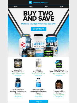 Bodybuilding - 🚨 New Promo Alert: Double Up and Save BIG!