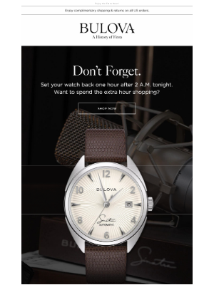Bulova - Don't Forget to Set Your Watch Back