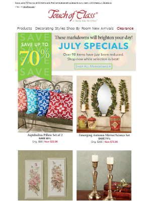 Summer of Savings continues with July Specials!