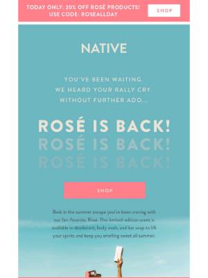 Rosé is back! 🙌