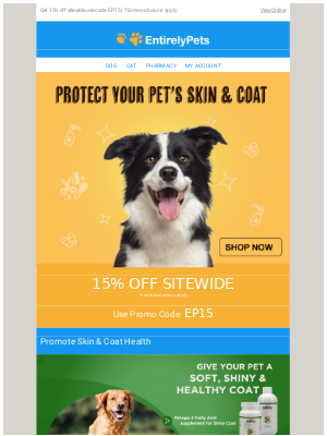 🐕🙌Claim Your Savings Now : Get 15% off Sitewide!