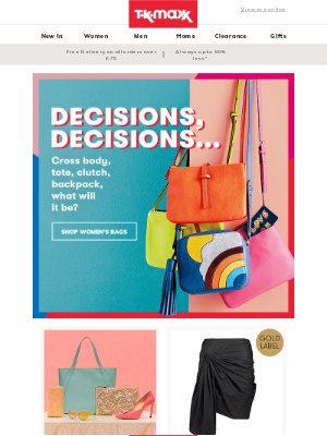 TK Maxx (UK) - Time for a new handbag?