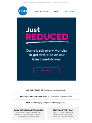 Home Shopping Network - Donald, You Get First Dibs on New Markdowns