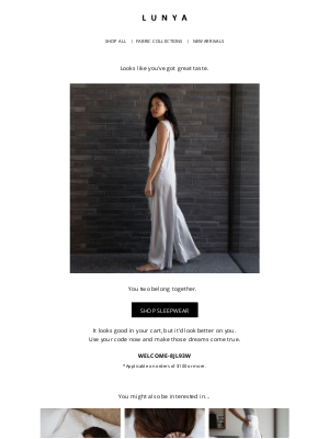 Lunya - Your Washable Silk Double V Jumpsuit is waiting!