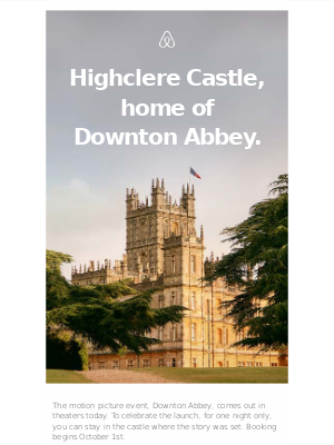 You're invited to stay in Highclere Castle, home of Downton Abbey.