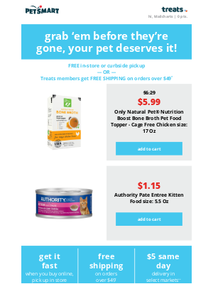 PetSmart - The items in your cart are starting to have separation anxiety! 😅