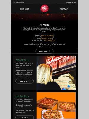 Pizza Hut (UK) - 50% OFF Pizza. Final Sorted!