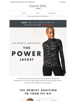 Sweaty Betty (UK) - Our first EVER Power Jacket