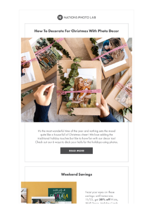 Nations Photo Lab - How to decorate for Christmas with photo decor