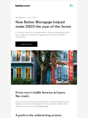 Better - Mortgage News: Why 2020 was the year of the home