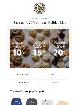 King Arthur Flour - 🎁 Save up to 20% on great gifts! 🎁